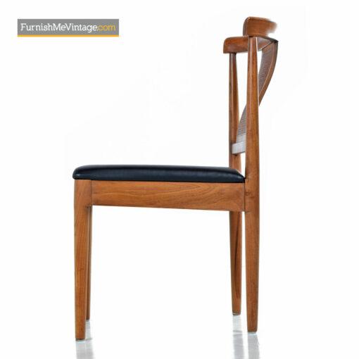 mid century light walnut dining chairs