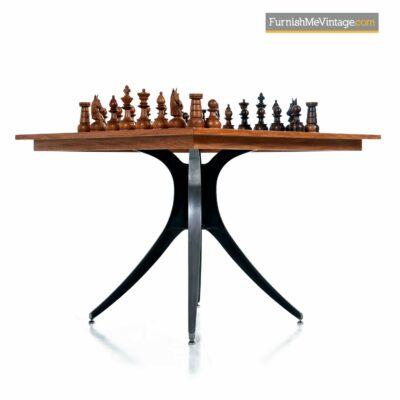mid century modern chess table set