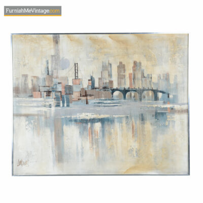 modern cityscape painting lee reynolds