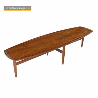 modern walnut coffee table drexel