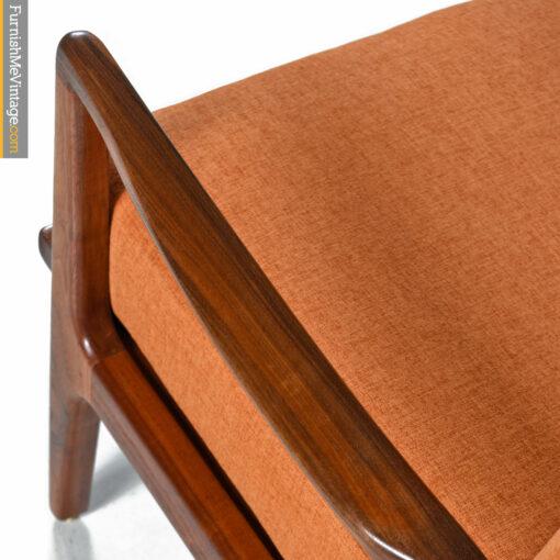 modern walnut lounge chair