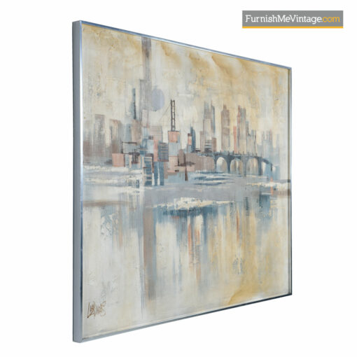 modernist abstract cityscape painting