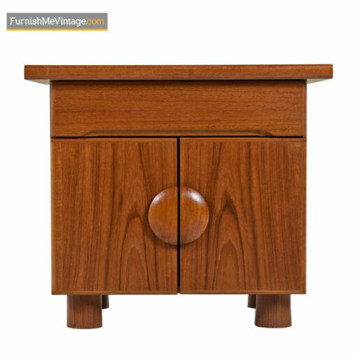 nightstand danish teak end tables
