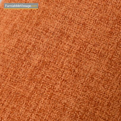 retro modern orange weave fabric