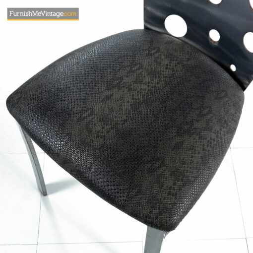 snake skin dining chairs