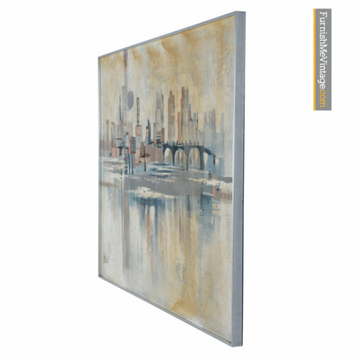 sofa painting cityscape abstract modern