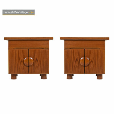 teak danish end tables