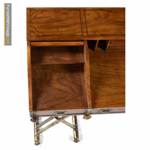 vintage 1970s campaign desk