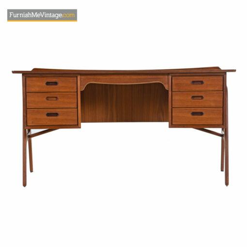 vintage modern teak desk madsen