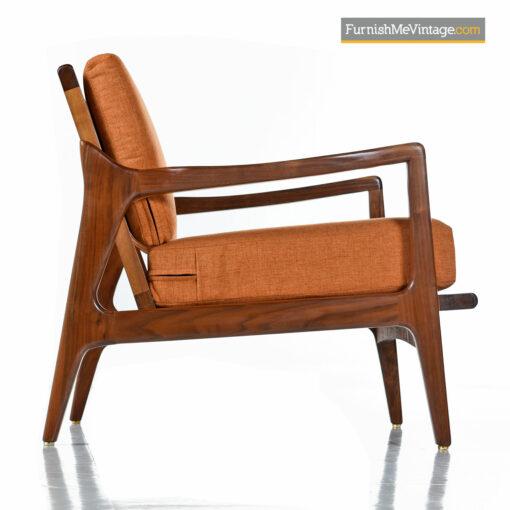 vintage modern walnut lounge chair