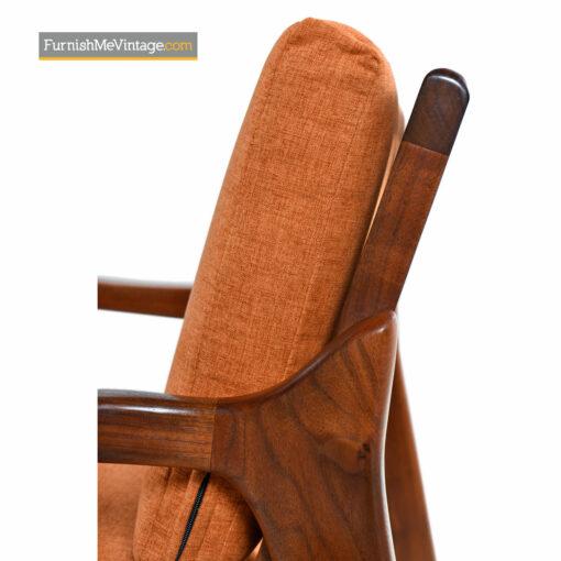 walnut lounge chair danish modern