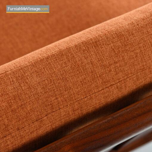 walnut modern lounge chair
