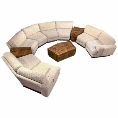 crescent shape pit group sofa