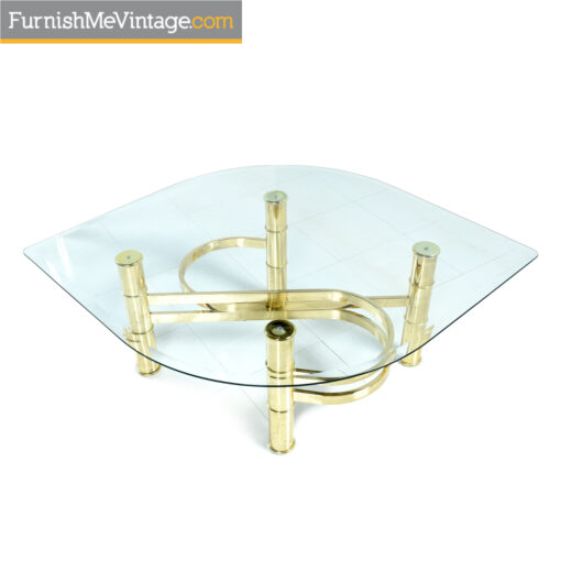 1980s gold coffee table