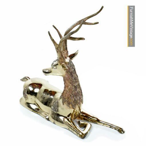 Sarreid mid century brass deer