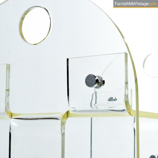 acrylic lucite vanity stool bench