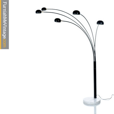 black five head arch lamp-marble-base