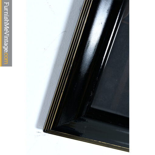 black frame gold trim