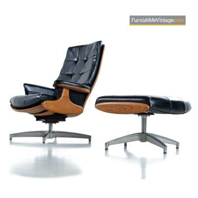 black naugahyde heywood wakefield chair