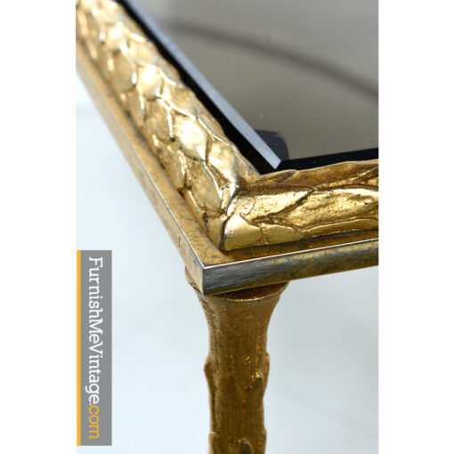 brass smoked glass coffee table