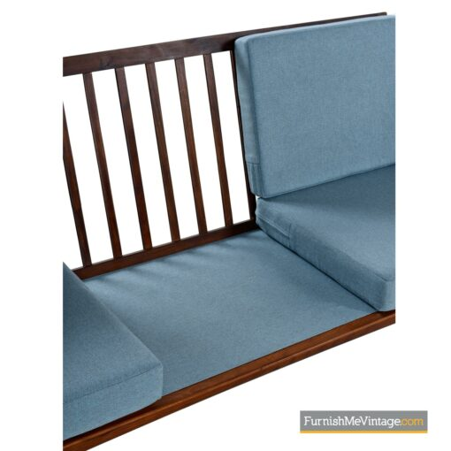 danish modern bowa walnut sofa