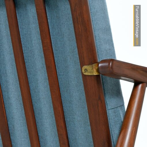 danish modern walnut couch