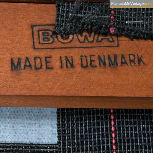 danish sofa stamped bowa