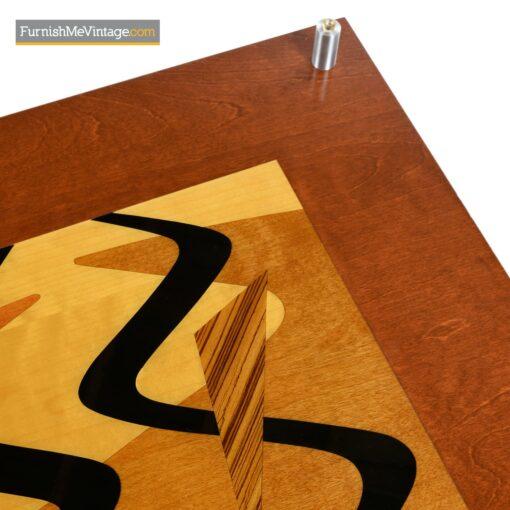 decorative inlay modern coffee table