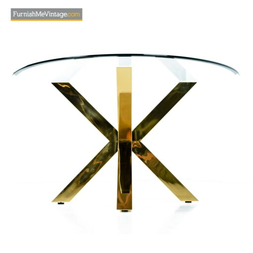 gold aluminum dining table