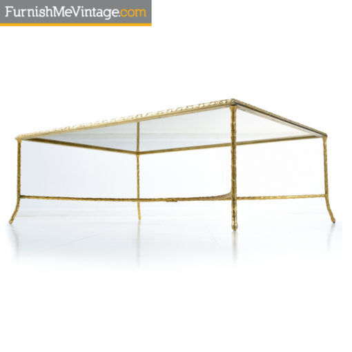 gold arch base laurel coffee table