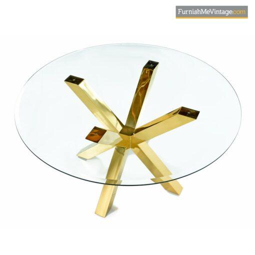 gold brass modern jax dining table