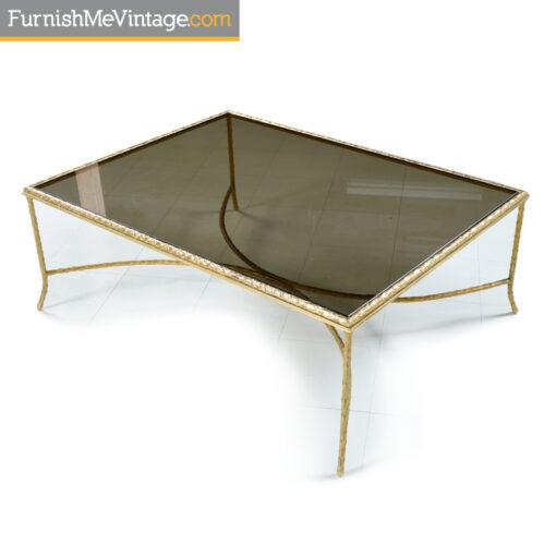 gold laurel leaf x base coffee table