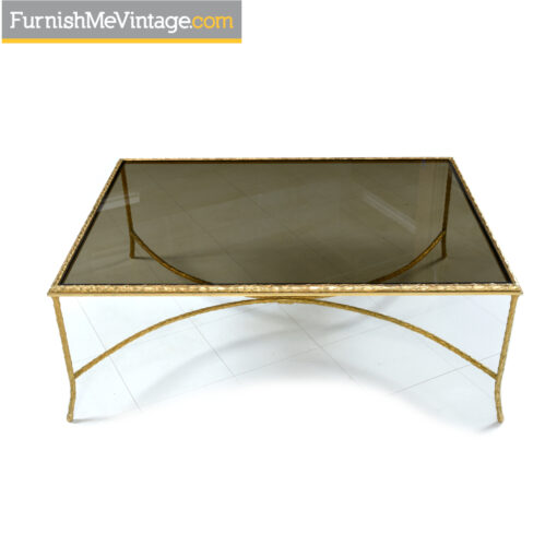 gold maitland smith coffee table