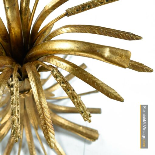 gold wheat sheaf cocktail table