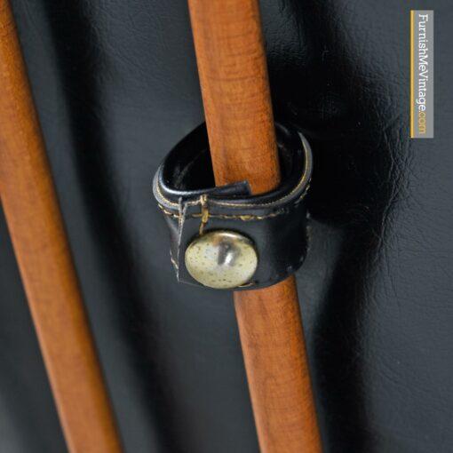 heywood wakefield black leather chair