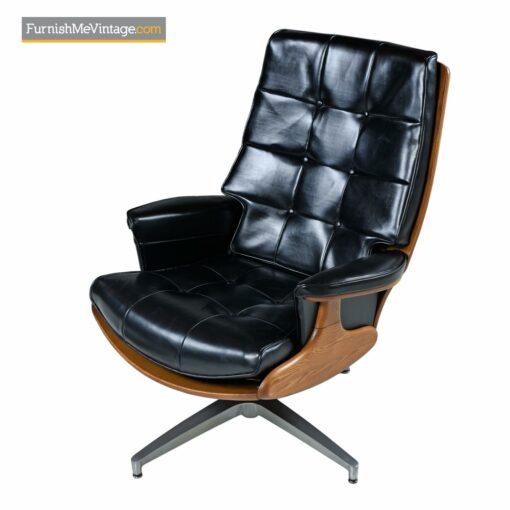 heywood wakefield leather arm chair