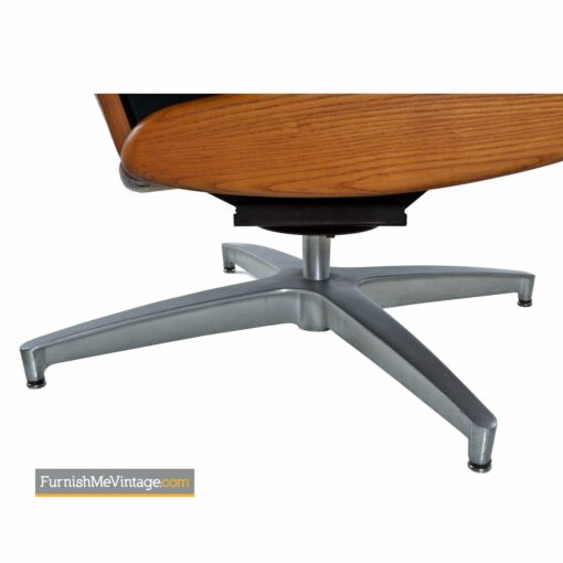 heywood wakefield swivel lounge chair