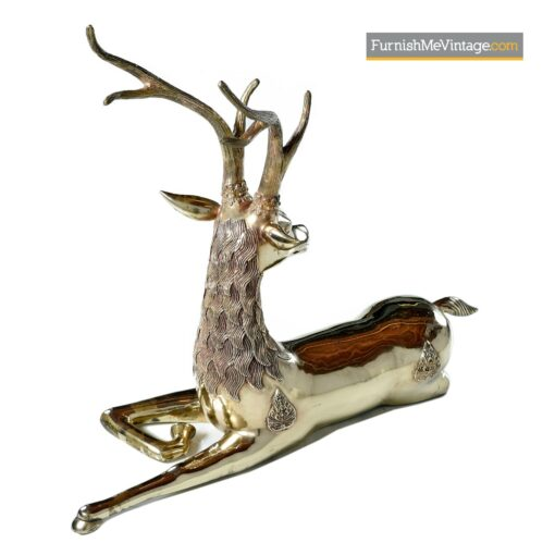 hollywood regency brass deer