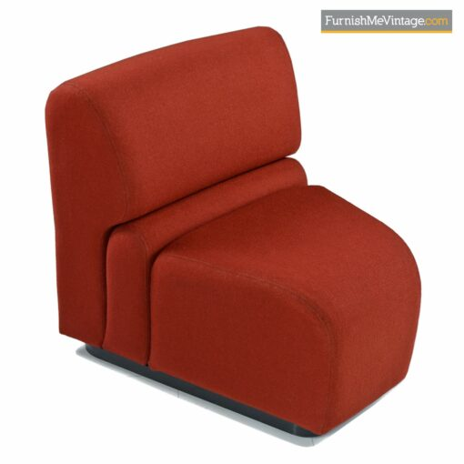 jack cartwright red sectional couch