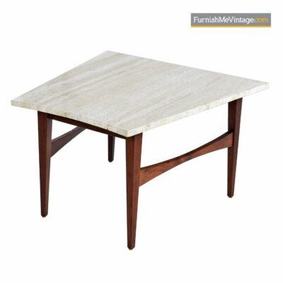 jens risom travertine side table