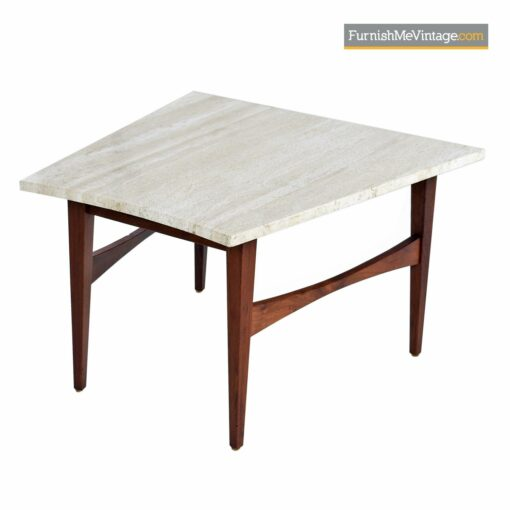 jens risom travertine side table