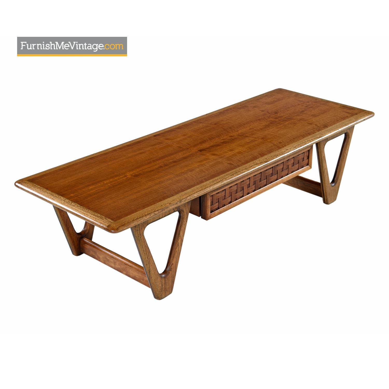 Mid Century Modern Lane Perception Surfboard Coffee Table