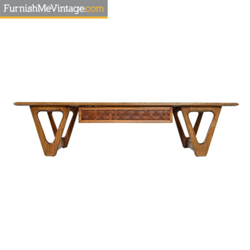 lane perception triangle leg coffee table
