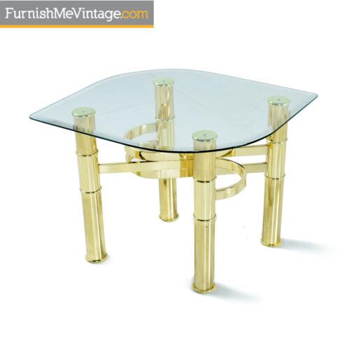 leaf shape glass tables