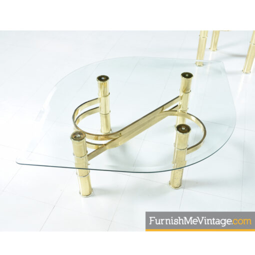 leaf shaped gold coffee table