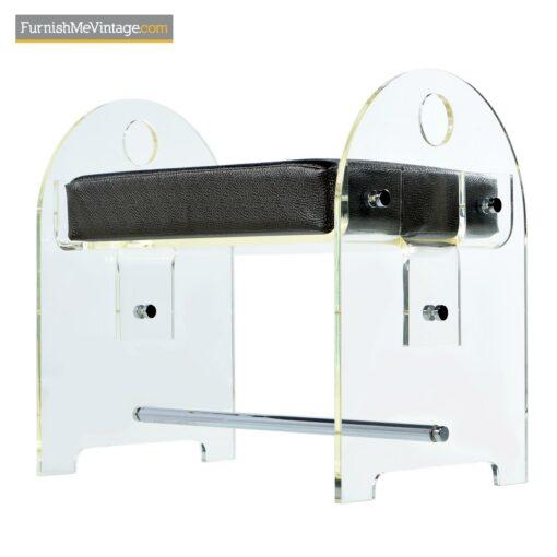 lucite acrylic bench stool ottoman
