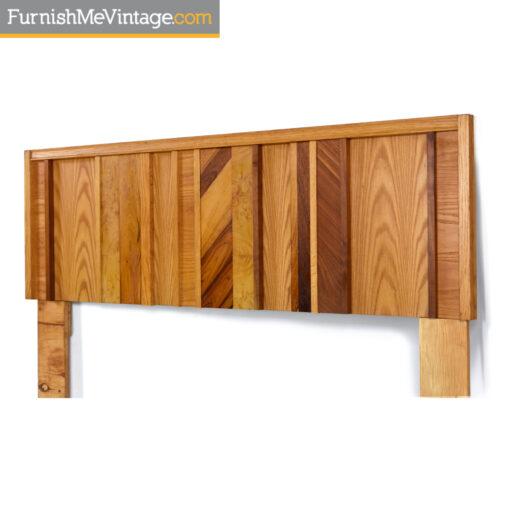 maple oak burl walnut double bed headboard