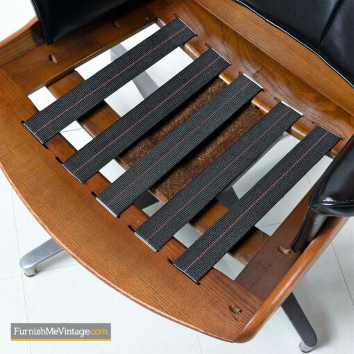 mcm black naugahyde lounge chair