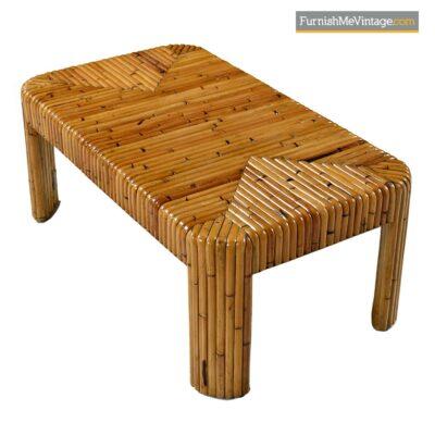 mdi century bamboo rattan coffee table