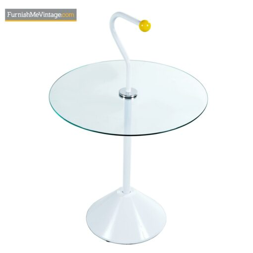 memphis style glass top end tables